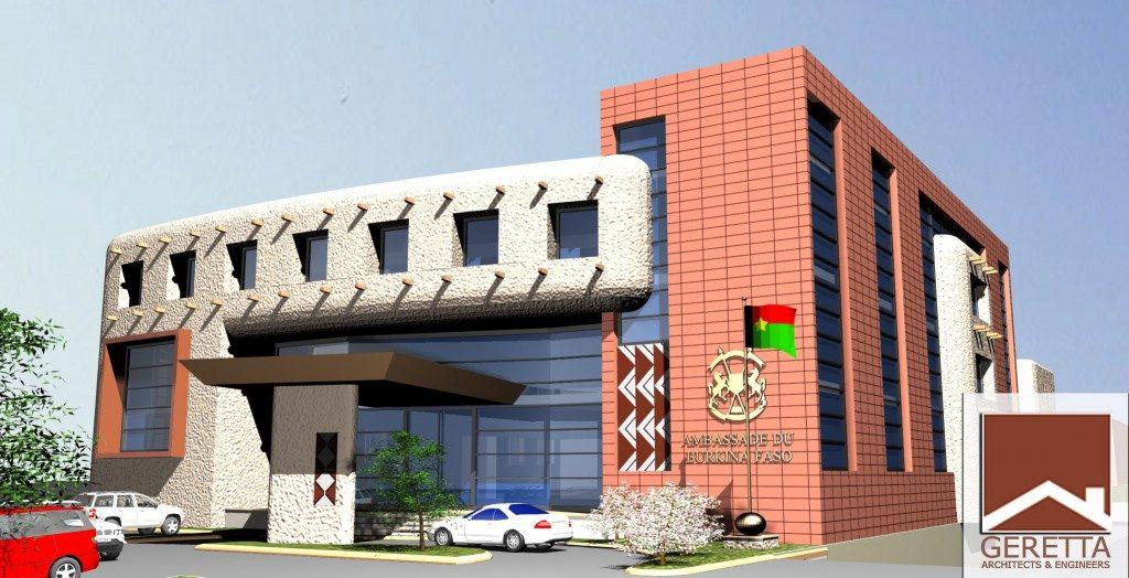 Burkina Fasso Embassy Addis Ababa Exterior Render 01 Geretta 1024x524 1024x524 - Burkina Faso Embassy to Ethiopia