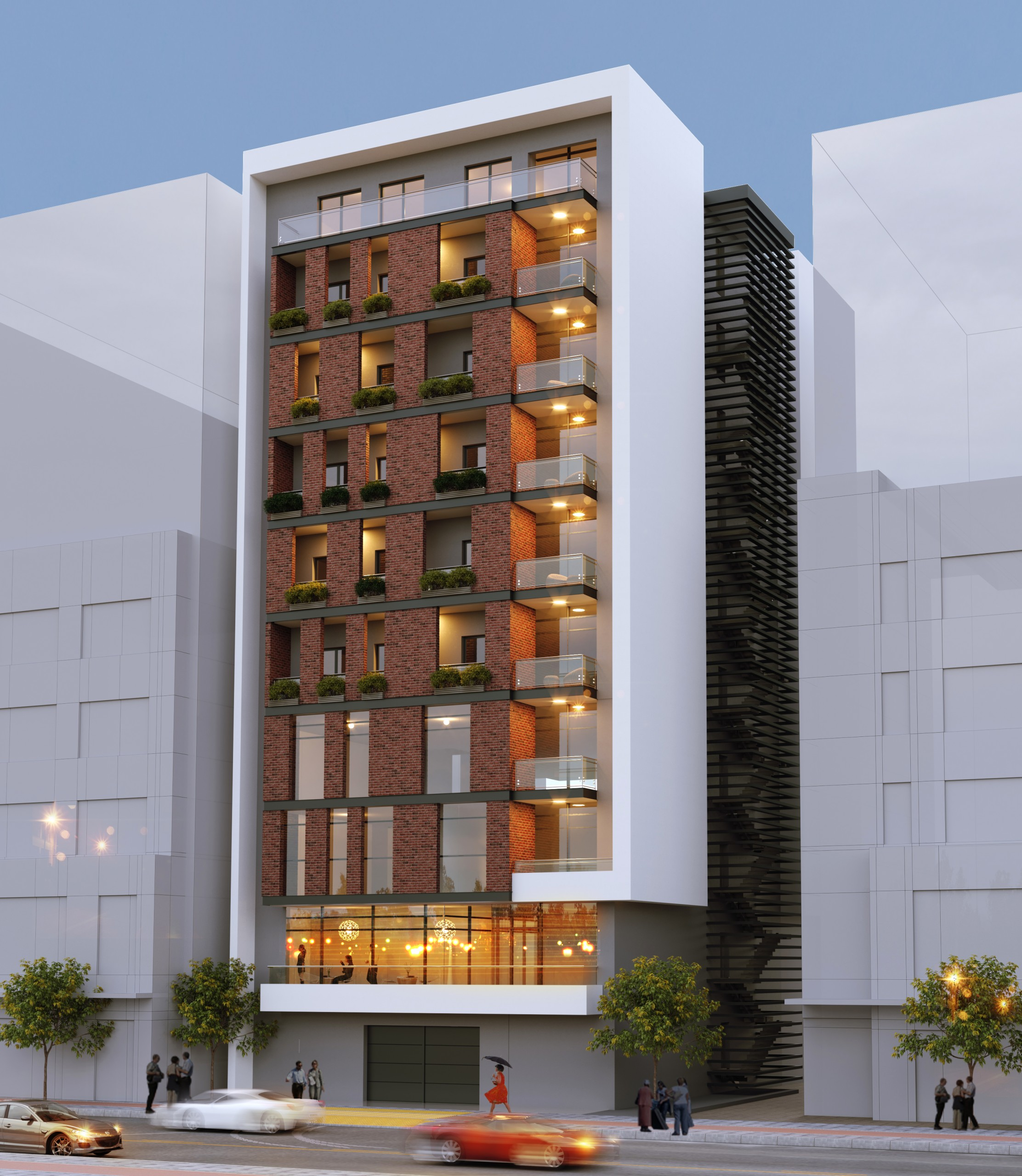frew 3D view scaled - Apartment Complex